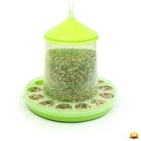【餌入れ】自動給餌器(スケルトン緑) 容量4Kg 【にわとり・ちゃぼ・うこっけい】