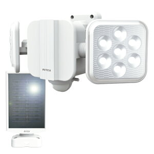 ライテックス LED センサーライト ソーラー 5W×2灯 フリーアーム式 S-220L