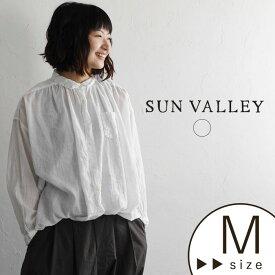 ブラウス SUN VALLEY サンバレー 綿ボイル/柔らかい 薄手 ギャザー 白 シャツ シンプル 無地 大人 ナチュラル s+ / 綿 コットン 綿100% 春 夏 レディース Ms, 1820SS0803, トップス x03, q2,