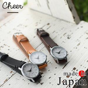 腕時計 Cheer 日本製 オイルレザーベルト ティンブロ ウォッチ 本革 レディース /ベルト 15mm かわいい シンプル 大人 ナチュラル おしゃれ レディース jp+ z+ /1920SS0419,