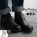 ショートブーツ 23〜25cm JOY WALKER Plus ジョイウォーカープラス ベルト サイドジップ ブーツ 靴/アンクルブーツ …