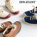 スニーカー レディース 靴 INN-STANT インスタント レースアップ ミドルカット キャンバス 36〜39 / 歩きやすい カジ…