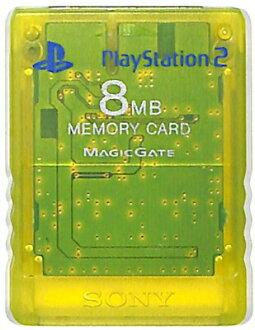 PS2 SONY的記憶卡(清除黄色)