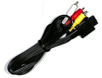 任天堂纯净立体声AV缆! 支持游戏立方体/电视游戏机/N64/NEW电视游戏机