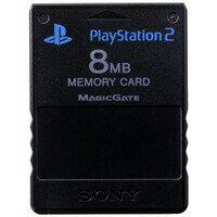 PS2 SONY純正 メモリーカード【8MB】 (ブラック) 初期化済 プレステ2【中古】