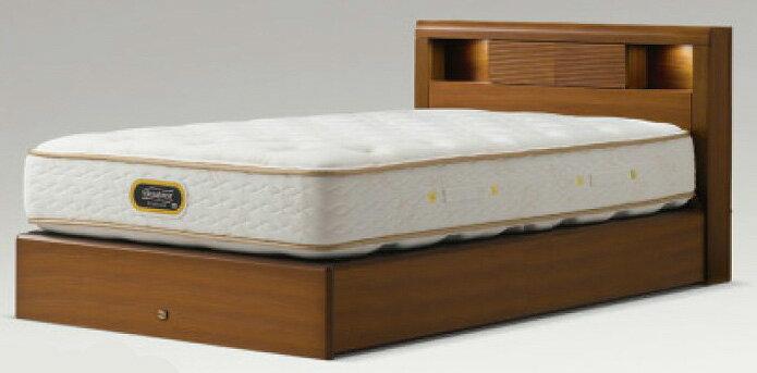 シモンズベッドsimmonsコンサバティブシリーズ クイーン・ワイドダブル アーグシェルフ2 ノーマルタイプ 箱型 ダークブラウン 送料無料 日本製 マットレス付き