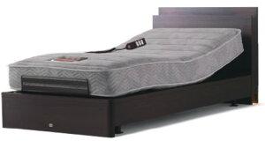 シモンズベッド シェルフライト 2モーター電動ベッド 介護ベッドとしても シングル マットレス付き ウェイクアップベッド 送料無料 自立支援 木製 シンプル