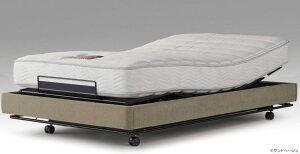 シモンズベッド マキシマ ファブリック フット&フット フラットヘッドレス 3モーター電動ベッド 介護ベッドとしても セミダブル マットレス付き ウェイクアップベッド 送料無料 自立支援