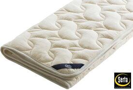 サータ PD150LX ラグジュアリーウールパッド ダブル 羊毛ベッドパッド 洗える リバーシブル 送料無料 日本製