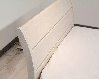 ドリームベッド/フェミスティ2602/シングル/フラット/ドロアータイプ・引き出し付き/ホワイトオーク色/アンティークかわいい/送料無料/日本製/フレームのみ