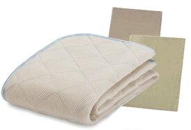 フランスベッド モイスケアメッシュパッド ベッドパッド ベッドメーキング3点セット セミダブル ベッドパッド&シーツ2枚セット 布団カバーセット マットレスカバー 寝装品 送料無料