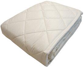 羊毛ベッドパッド ダブル ウォッシャブルウール ベージュ 洗える洗濯可能 汗取りマットレスパッド 寝装品 日本製寝具 送料無料