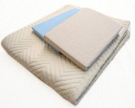 ベッドメーキング セミダブル ベッドパット シーツ三点セット ベッドパッド&シーツ2枚セット 布団カバーセット マットレスカバー 寝装品 送料無料