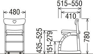 カリモクXT1801/子供用椅子/キッズチェア/デスクチェア/ステップアップ/キャスター付き/足元収納/長く使える/合成皮革/送料無料/日本製家具/木製