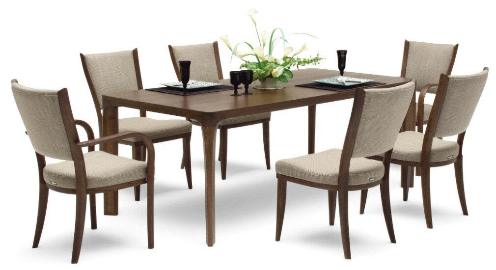 カリモクCT7350 DD6230 180サイズ 食堂椅子 食卓テーブル ダイニング7点セット 本革張 肘付椅子 食卓セット 送料無料 日本製家具