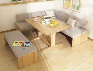 カリモク CU5728 CU5749 CU5736 DU4760 食堂椅子 食卓テーブル ダイニング4点セット 合成皮革・布張り 選べるカラー リビングダイニング 食卓セット LDチェアー ベンチシート コーナースタイル L字