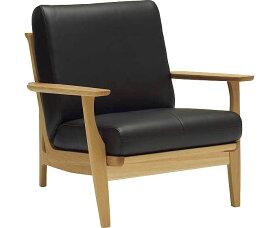 カリモク WU6120 1Pソファ 本革張り 一人掛け椅子 木製肘掛ソファ 本革仕様にも レザー 送料無料 おすすめ おしゃれ 人気 karimoku 日本製家具 正規取扱店