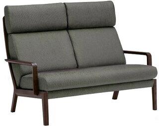 カリモクWU4612モデル/2Pソファ/肘掛椅子/布張り/二人掛け/ラブソファー/ハイバック/ファブリック/送料無料/日本製家具