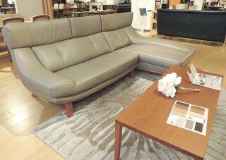 カリモクZU4628/ZU4648/シェーズロング/ハイバック/本革リーベルソファ/肘掛椅子ロング/カウチソファ/送料無料/日本製家具