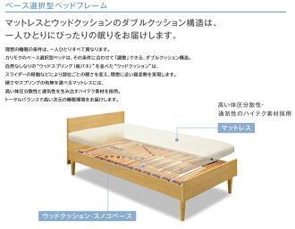カリモクNU36モデル/イノフレックスベース/チューニングベッド/シングル/フィットマスターファイバーマットレス付き/シンプルスタイル/コンパクト宮付き/レッグタイプ・脚付き/送料無料/日本製家具/ウッドスプリングベッド