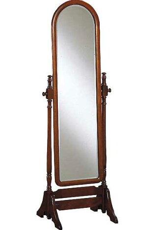 【カリモク家具】AC7177NK姿見/ミラー/コロニアルウォールナット/全身鏡/角度調整可能/送料無料/日本製