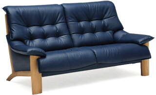 カリモクZU4912・UU4912/2Pソファ/布張りファブリック・本革張レザーソファ/肘掛ソファ/ラブチェア/2人掛け椅子ロングW1620/送料無料/日本製家具