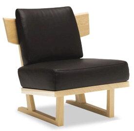 カリモク WU4705 1Pソファ 本革 一人掛け椅子 木製肘無しソファ 和風縦格子状 送料無料 おすすめ おしゃれ 人気 karimoku 日本製家具 正規取扱店リーベル・ネオスムース