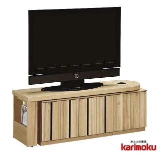 カリモクQT90AHME/テレビ台/大型液晶LED対応/TVボード/大型収納/完成品/送料無料/日本製/シンプル/レッグ/スライド引き戸/回転式天板/コーナー対応テレビボード/TV台/AVボードロータイプ/テレビラック