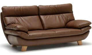 カリモクZT8303/3人掛け椅子/3P本革ソファ/肘掛椅子/ハイバック/ブラウン/トリプルソファ/送料無料/日本製家具