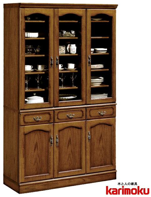 カリモクEC4080NK カントリー ウォールナット コロニアル 食器棚 木製ダイニングボード・キッチンボード カップケース 皿収納 設置送料無料 日本製家具 正規取扱店