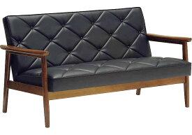 カリモク WS1193BW(旧WS1183BW) 肘掛椅子2Pソファブラック 合成皮革張ラブチェア ビンテージ風 レトロ 古風 コンパクト カフェ おすすめ おしゃれ 人気 karimoku 日本製家具 正規取扱店