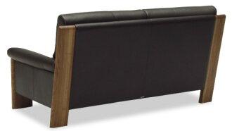【カリモク】ZU4812/2Pソファ/本革張ソファ/肘掛ソファ/ラブチェア/2人掛け椅子ロング/ハイバック