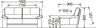 カリモクZU4812/2Pソファ/本革張ソファ/肘掛ソファ/ラブチェア/2人掛け椅子ロング/ハイバック/送料無料/日本製家具