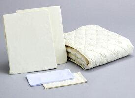 アンネルベッド 抗菌ベッドメーキング5点セット セミダブル ベッドパッド&シーツ2枚 オススメ布団カバーセット マットレスカバー 送料無料