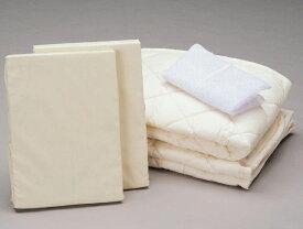 アンネルベッド 丸洗いベッドメーキング4点セット セミダブル ベッドパッド&シーツ2枚 オススメ布団カバーセット マットレスカバー 送料無料