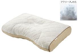 東京西川 FA7010ベーシッククオリティ ピロー フワリーナわた ミニパイプ そば殻 シングル レギュラーサイズ 枕 寝具 日本製