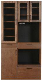レグナテック メリッサ100キッチンボード 食器棚 キッチン収納 ダイニングボード レンジボード シンプルナチュラル ウォールナット・オーク 木製 送料無料 日本製