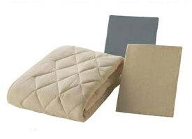 フランスベッド クランフォレスト英国高級羊毛ベッドパッド ベッドメーキング3点セット セミダブル ベッドパッド&シーツ2枚セット 布団カバーセット マットレスカバー 寝装品 送料無料