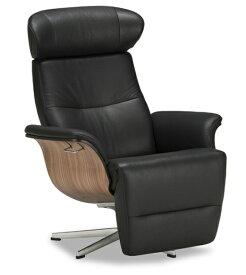 フランスベッド Timeout タイムアウトインビルドcat.60オーナーズチェア 本革アニリンレザー 1Pソファ フットレスト パーソナルチェア リクライニング椅子 送料無料 北欧スウェーデン家具