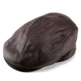 ニューヨークハット New York Hat ハンチング レザー 牛革 本革 帽子 メンズ ハンチング ハンチング帽子 レディース 9250 ブラウン 茶 [ivy cap] 送料無料 (秋冬帽子 ファッション ハット ハンチング 30代 40代 通販 楽天) 敬老の日
