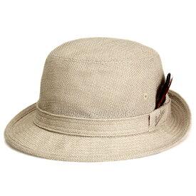 Borsalino ボルサリーノ 春夏 メンズ リネトロンミックスアルペンハット [bs452-006] ベージュ [alpine hat] ギフト 春夏 涼しい ハット ファッション 送料無料(紳士帽子 メンズハット 男性 おしゃれ 通販 40代 50代 60代 ファッション小物 ブランド帽子 中央帽子 ぼうし)