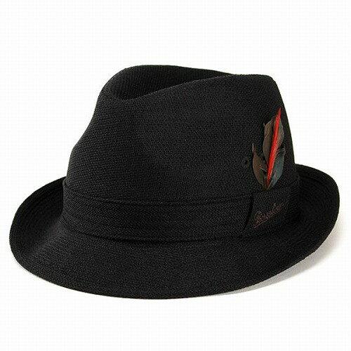 ボルサリーノ 中折れハット 羽根付き ロゴ入り Borsalino 日本製 春 夏 帽子 つば広 ニューレスコー 中折れ帽 紳士 ブランド ワイドブリム メンズハット シンプル かっこいい 30代 40代 50代 60代 70代 ファッション 紫外線対策 男性 ブラック 黒 [ fedora ]