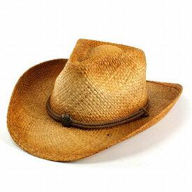 麦わら帽子 ハット ブランド帽子 ヘンシェル ストローハット メンズ テンガロン ラフィア テンガロンハット カウボーイハット ウエスタンハット HENSCHEL カウボーイ テンガロン ウエスタン 大きい 中折れハット 中折れ帽子 男性 ウェスタンハット メンズハット 紳士帽子