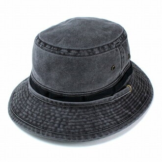 能在帽子山间途步帽子登山钓鱼户外洗附带冒险帽子帽带的洗涤加工收藏的布莱克(帽子boshiosharekireime休闲的30几岁的40几岁的时装男性绅士邮购黑)