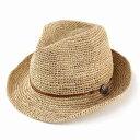 ストローハット メンズ レディース 麦わら帽子 帽子 ハット 中折れ 夏 ストロー 大きいサイズ ラフィアハット コンチ…