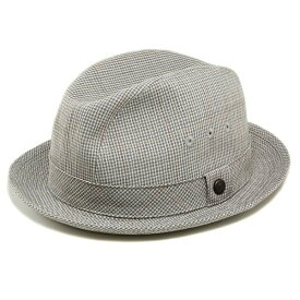 Borsalino 帽子 メンズ 春夏 チェック柄 ボルサリーノ 中折れハット ソフトライナー 柔らかい 折りたためる帽子 中折れ帽 チェック 紳士 小さいサイズ 大きいサイズ / オリーブ [ fedora ]40代 50代 60代 70代 帽子 プレゼント 敬老の日 ギフト