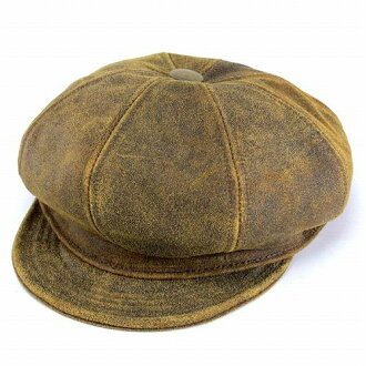 Hunting caps men hats New York Hat antique cowhide leather newsboy Brown  ANTIQUE LEATHER SPITFIRE 9245 (Cap and hat shop fashion fashionable gift)  ... 5b163d324f1