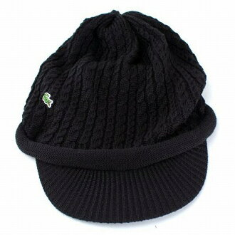 Lacoste Hat mens fall winter knit casket ladies knit hat shirts Hat LACOSTE  newsboy caps UV measures made in Japan black (popular fashionable ski winter  Hat ... 0c38e04131e