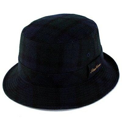 ハット メンズ ハット 帽子 メンズ シナコバ フランネル チェック ウール サハリハット ネイビー 紺 送料無料 [bucket hat] (メンズ 帽子 サファリハット サハリハット 男性 プレゼント 紳士 チェック柄 帽子 大人カジュアル 通販 楽天)