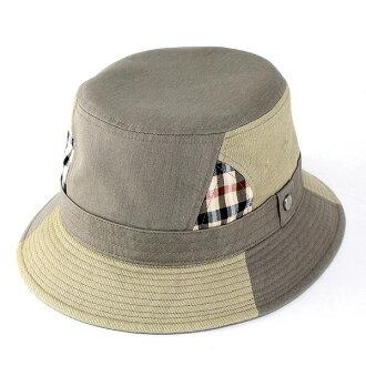 Daks daks / 户外帽 / 绅士帽子去伟大 / 强大鸭帽子 / 拼布休闲 / 橄榄 (Safari 帽子一顶帽子男式户外拼凑帽子男士礼物)
